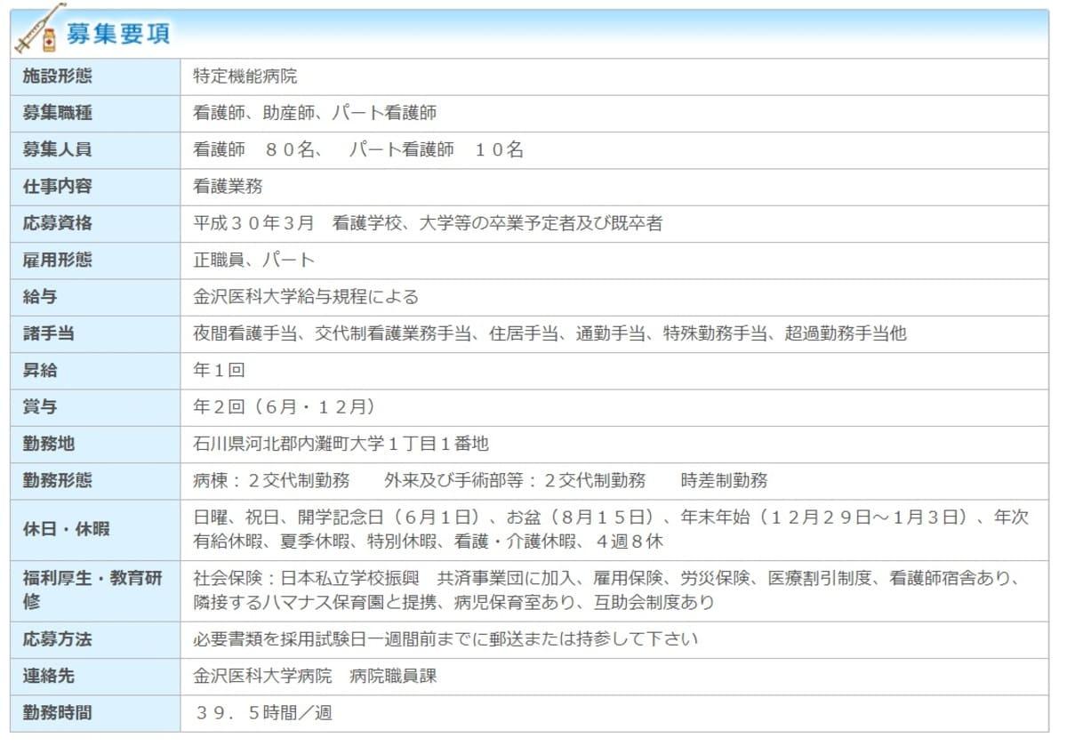 【石川県の看護師転職求人】金沢医科大学病院の求人情報