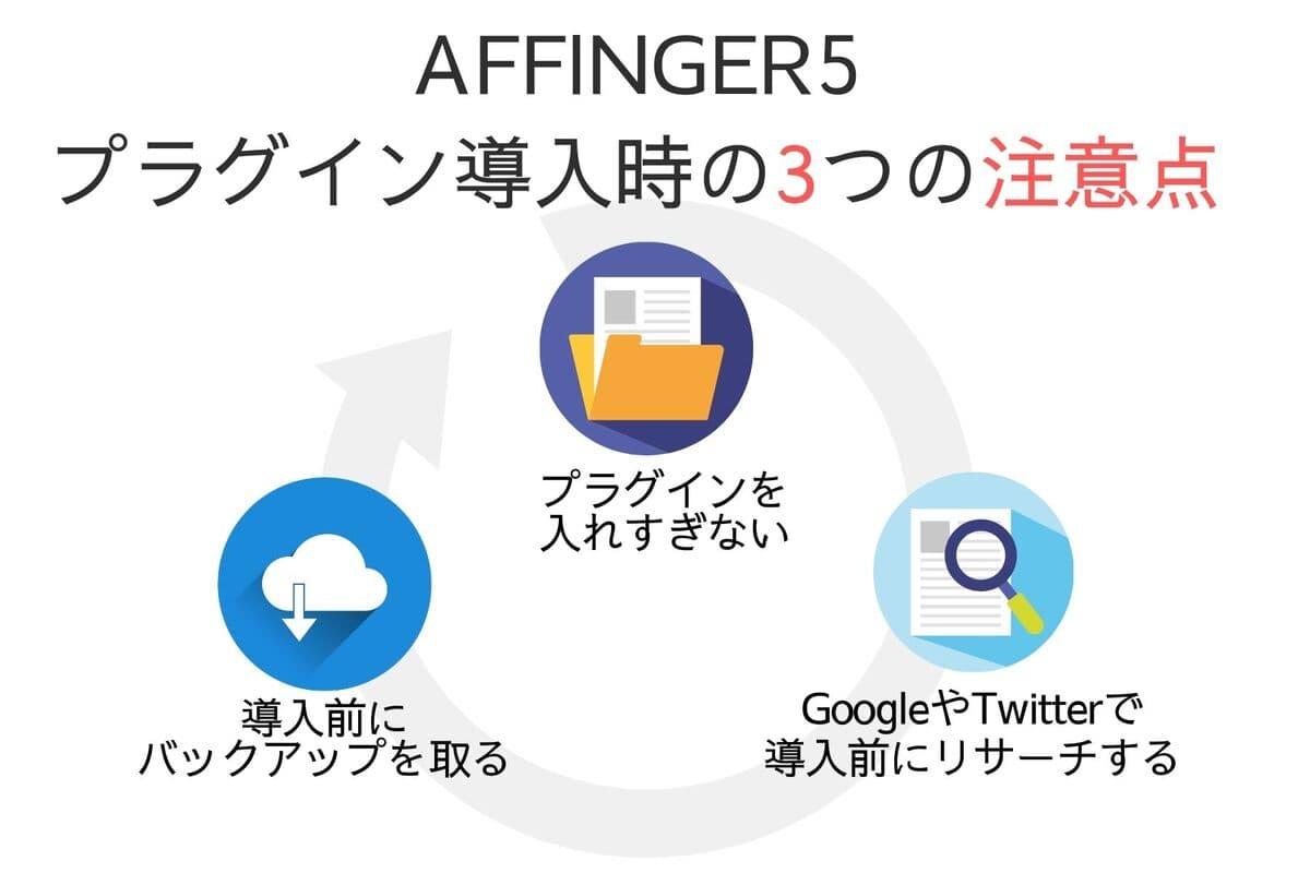 AFFINGER5にプラグインを導入する時の注意点