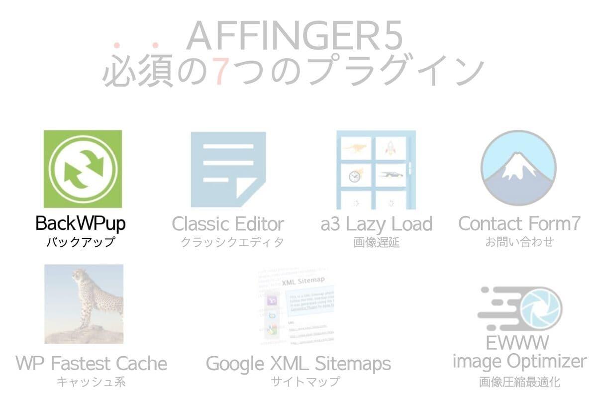 AFFINGER5に必須のプラグインのBackWPup