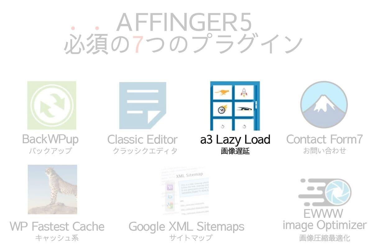 AFFINGER5に必須のプラグインのCa3 Lazy Load