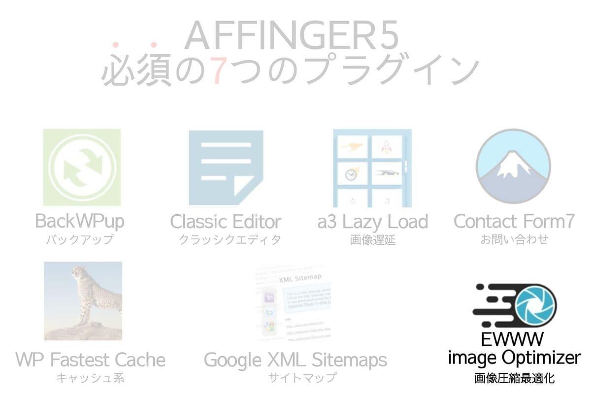 AFFINGER5に必須のプラグインのEWWW image Optimizer