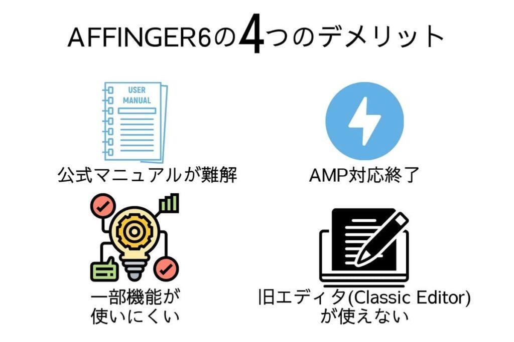 AFFINGER6の4つのデメリット