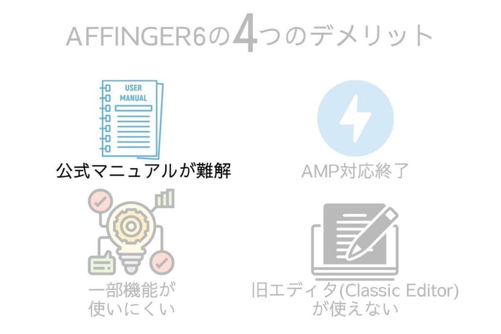 AFFINGER6(アフィンガー6)公式マニュアルが難解&情報不足