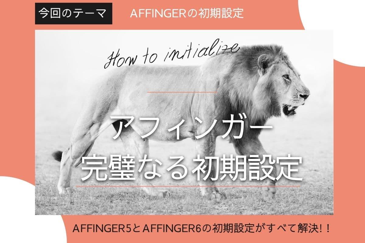 AFFINGER5やAFFINGER6導入後の初期設定